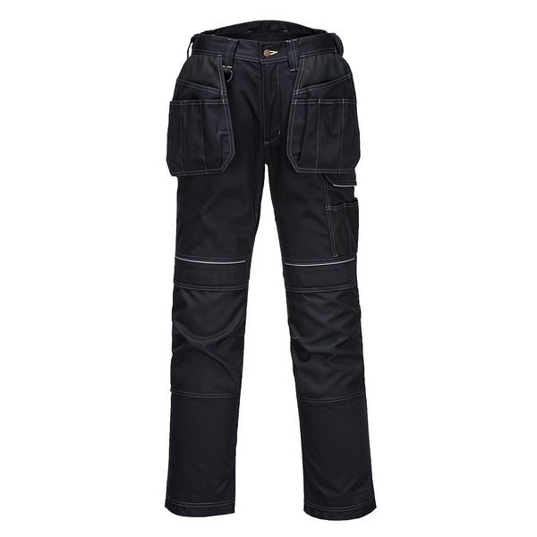 Portwest T602 - Black  28 Regular PW3 Holster Work Trousers Combat Cargo Pants