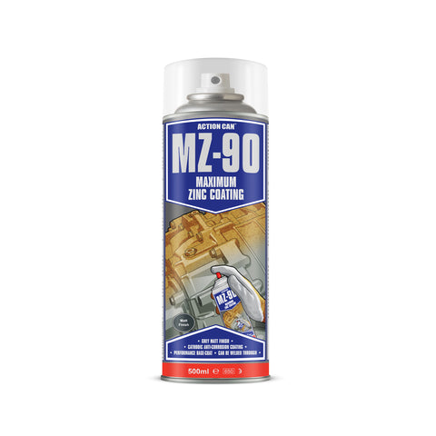 Action Can MZ-90 Matt Finish Cold Zinc Galvanising Spray Paint Aerosol 500ml