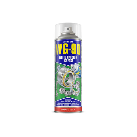 Action Can WG-90 White Calcium Grease Gearbox Lubricant Spray 500ml