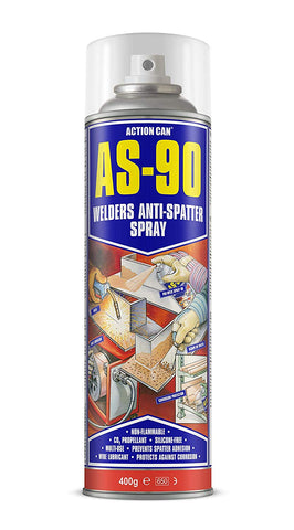 Action Can AS-90 Welders Anti-Spatter Fluid Spray Multi Use 400g