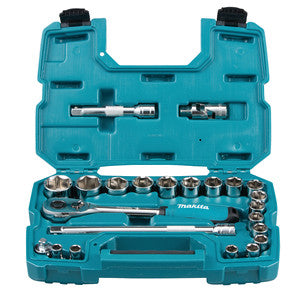 Makita B-65589 1/2 RATCHET & SOCKET SET  23 PC