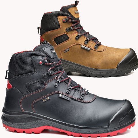 BASE B0895 Safety Boot Shoe Black Brown Be-Dry Mid/Be Rock