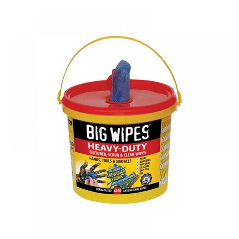 Big Wipes 240 Heavy Duty 4 x4 Industrial Office Tools Surfaces Cleaning Bucket