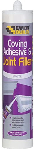 EVERBUILD Coving Adhesive & Joint Filler Polystyrene Plaster Joints Cornice