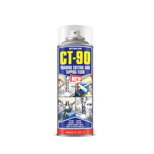 Action Can CT-90 Cutting & Tapping Fluid Foam Lubricant Metal Drilling 400ml