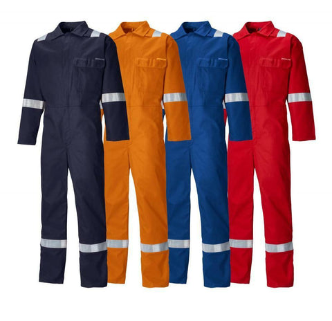 Dickies FR24/7TP Flame Retardant Reflective Coverall Boiler Suit Hi Vis Tall
