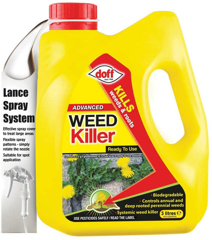 DOFF Advanced Weedkiller RTU 3 litre Weed Killer Kills to the root Ready To Use