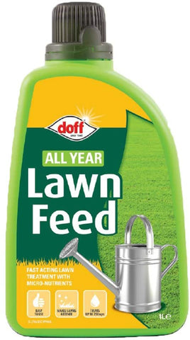 DOFF 1 LITRE All Year Lawn Feed Garden Essential Feed Fast Acting