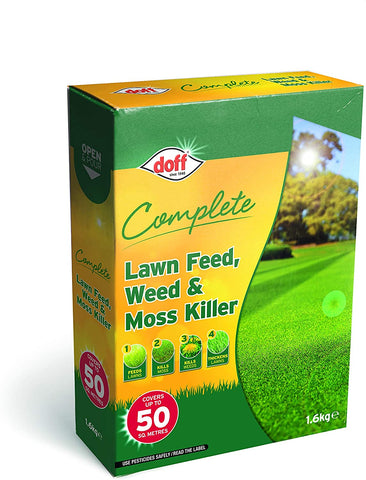 DOFF 1.6kg Complete Lawn Feed, Weed & Moss Killer