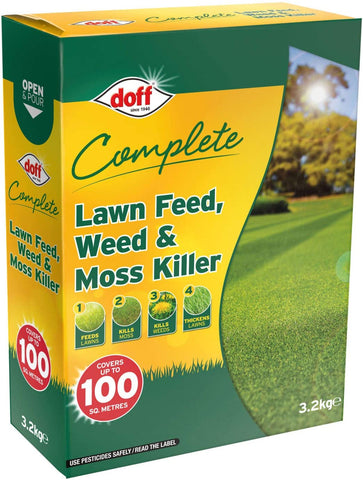 DOFF 3.2kg Complete Lawn Feed, Weed & Moss Killer 3.2kg
