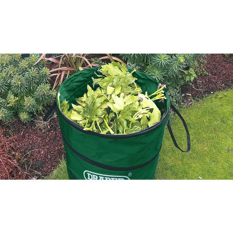 Draper General Purpose Pop Up Garden Waste Tidy Bag Leaves Grass Refuse 175L