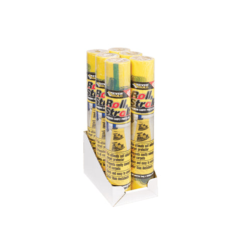 Everbuild Roll & Stroll 600mm x 75m Carpet Floor Protection Film Dust Protector