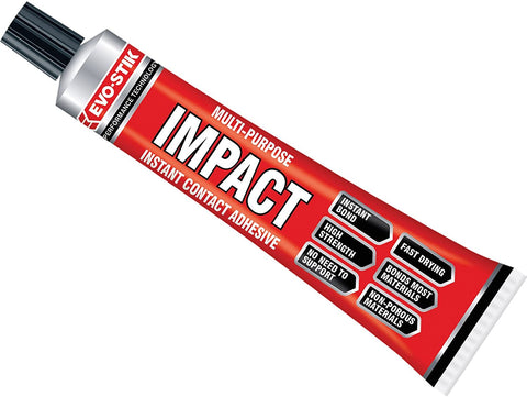 Evo-stik Impact Adhesive 65g Multi Purpose Instant Contact Glue evostik