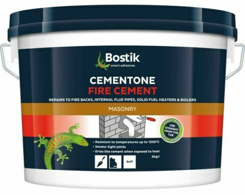 BOSTIK Fire Cement Natural 1kg Heat Resistant Boiler Flue Brick Mortar