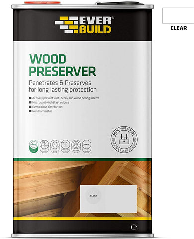 Everbuild Interior and Exterior Wood Preserver Solvent Free