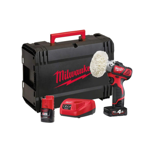 Milwaukee M12bps-421X Cordless Sander/Polisher 2 x Batteries + charger & Accs