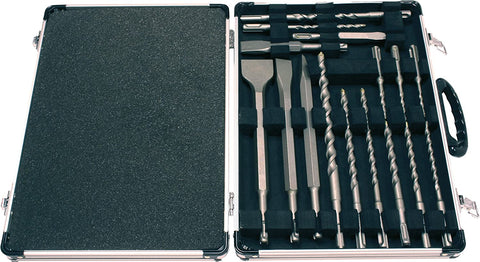 Makita D-21200 SDS Plus Drill and Chisel Set, 17 piece in Aluminium Case