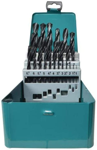 Makita D-54097 25 Piece HSS-R Metal Drill Bit Set ground point set