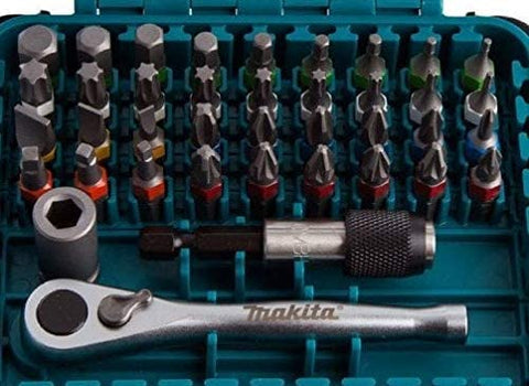 Makita P-79158 39 Piece Ratchet Screw Bit Set Phillips, Pozi, Torx, Hex, Slotted