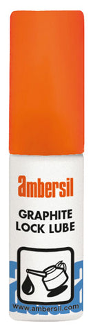 Ambersil Lock Lube 15ml Graphite Fine Powder Lubricant Locksmith Car Padlock