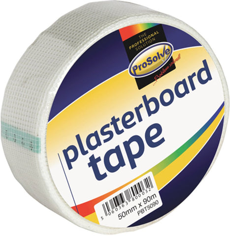 48mm x 90m Prosolve Scrim Tape Plasterboard Wall Joint Repair Patch Mesh