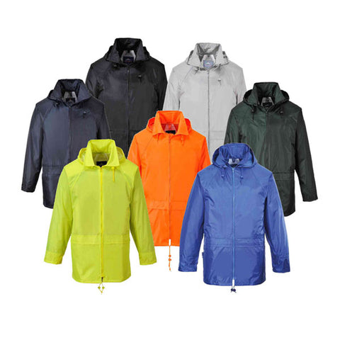 Portwest S440 All Colours - Classic Rain Jacket Coat Waterproof Hooded Zipped