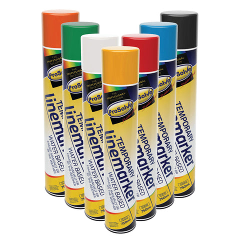 Prosolve 7 x Colours Temporary Line Marking Construction Spray Paint 750ml