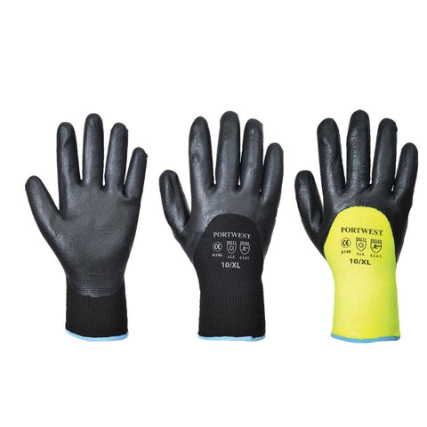 Portwest A146 - Black & Yellow Arctic Winter Glove