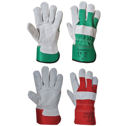 Portwest A220 Premium Chrome Rigger Glove Garden Builder All Colours/Sizes