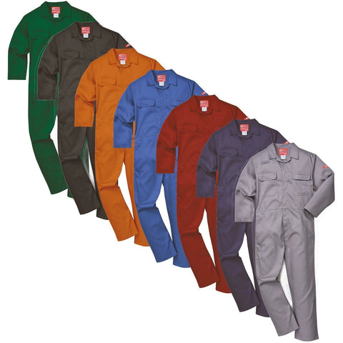 Portwest BIZ1 Bizweld Flame Retardant Welder Overall Coverall Safety Boiler Suit