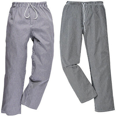 Portwest C079 - Bromley Chefs Check Trousers Checked Checkered