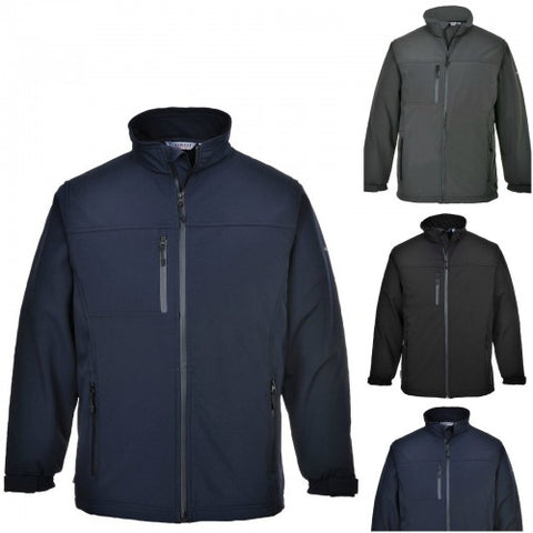 Portwest TK50 Softshell Jacket Microfleece Coat Waterproof Breathable Work
