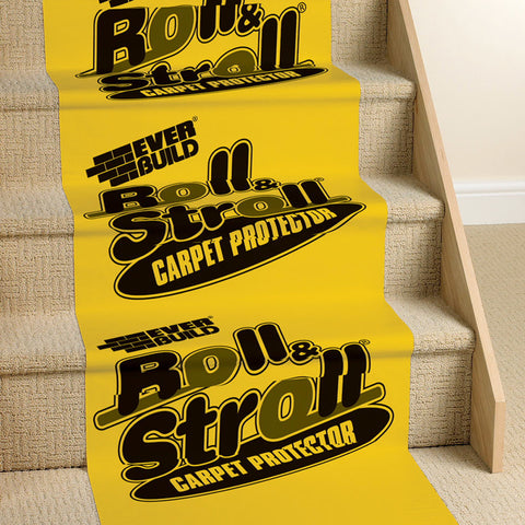 Everbuild Roll & Stroll 600mm x 25m Carpet Floor Protection Film Dust Protector
