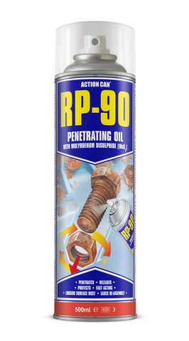 Action Can RP-90 Rapid Penetrating Oil Rusty Seized Bolt Screw Lubricant 500ml