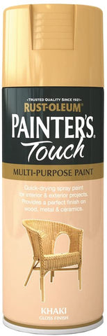 400ml Rust-Oleum Khaki Gloss Finish Painters Touch Spray Multi Purpose