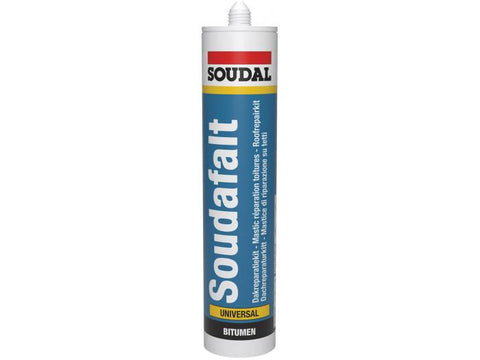 Soudal Soudafalt Roof Gutter Black Sealant Bitumen Rubber Waterproof Seal