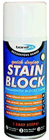 Bond It Stain Block 400ml Aerosol Spray Paint Covers Water Rust & Mould Marks