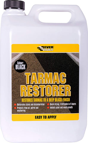 Everbuild 5 Litre TARMAC RESTORER, Restores Tarmac To A Deep Black Finish
