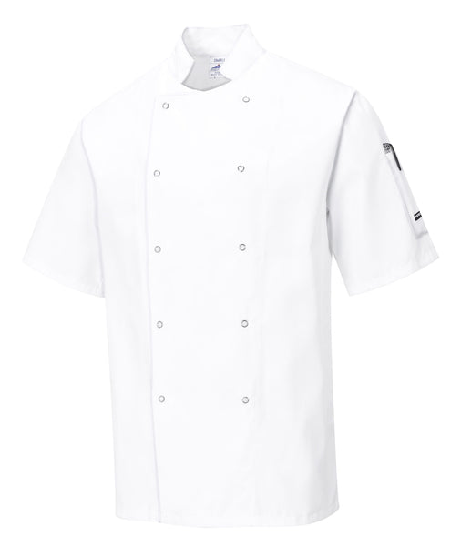 C733 CUMBRIA CHEFS JACKET WHITE XS