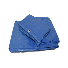 Yuzet Blue 2.4m x 3m Standard Waterproof Tarpaulin Ground Camping Sheet