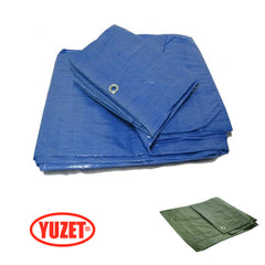 Yuzet Blue Green Standard Lightweight Tarpaulin Ground Camping Sheet Waterproof