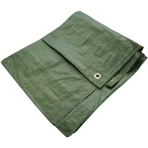Yuzet Green 2.7m x 3.5m Standard Waterproof Tarpaulin Ground Camping Sheet