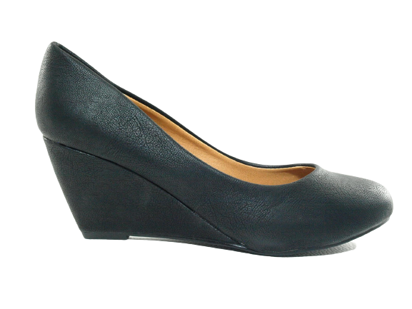 Damen Keilabsatz Pumps Wedges Black # 901-13