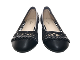 Damen Slipper Halbschuhe Ballerina Loafer Mokassins Slip On Flats Freizeit Black # 251