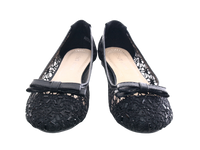 Damen Slipper Halbschuhe Ballerina Loafer Mokassins Slip On Flats Freizeit Black # 8382-22
