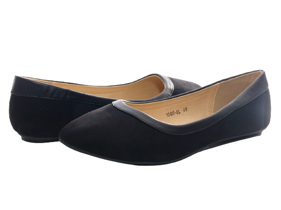 Damen Slipper Halbschuhe Ballerina Loafer Mokassins Slip On Flats Freizeit Black # 1060