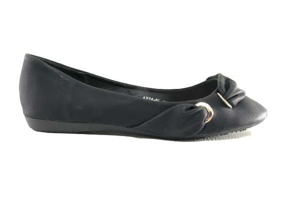 Damen Slipper Halbschuhe Ballerina Loafer Mokassins Slip On Flats Freizeit Black # 6374