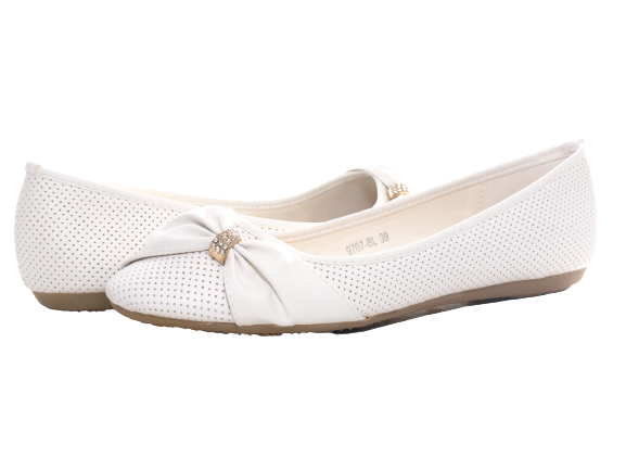Damen Slipper Halbschuhe Ballerina Loafer Mokassins Slip On Flats Freizeit White # 9707