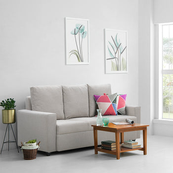 Zest Three Seater Couch - Fabric Off white