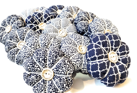 Navy and White PIn Cushion